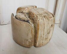 Vintage MILLINERY Wooden Hat BLOCK Sowjetische Ushanka Holz Hutform Hutmacher