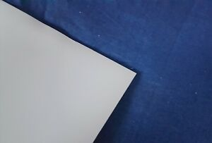 PTFE Teflon White Sheet 0.5mm and 1mm Thick Various Square Sizes 50mm to 400mm