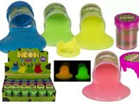 Neon Slime Glow In The Dark Colourful Goo Putty Kids Fun Funny Stocking Filler