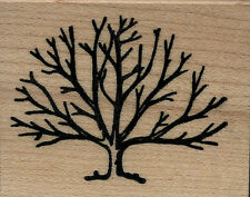 """mounted  rubber stamps  Tree/bush small size 1 1/4"""" X 1 3/4"""""""