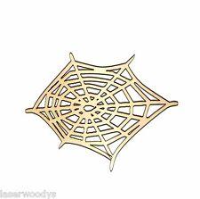 Spider Web Unfinished Wood Shape Cut Out SW91105 Crafts Lindahl Woodcrafts