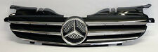 Front 3 Fin Black & Chrome Hood Sport Grill for Mercedes SLK 98-04 R170 W170