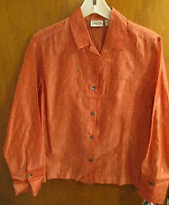 Chico's 0 Salmon Color with Design Long Sleeved Shirt XS