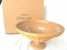 Compote Decorative Basket w/ Protector Collectors Club Longaberger Furit Flower