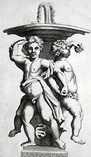 PUTTO KINDER BRUNNEN BACCHUS PUTTI FONTAINE WEIN SIMON THOMASSIN 1694