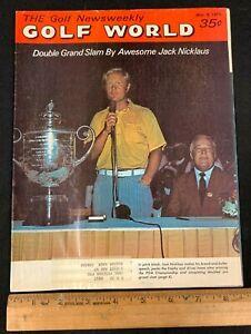 1971 MARCH 9 GOLF WORLD WEEKLY NEWS GOLF MAGAZINE *JACK NICKLAUS/GRAND SLAM 8520