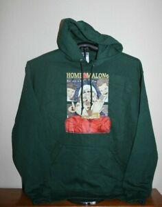 HOME MALONe Christmas  Hoodie Sweatshirt, Large, Green