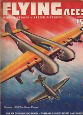 1943 Flying Aces January Pulp - Giant planes; blimp patrol; Marines score in sky