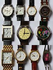 Sammlung Konvolut Lot 11 Armbanduhren Herren Damen Quarz Fossil Seiko Lorus