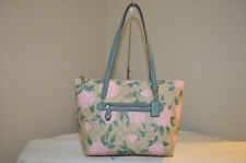 NWT $275 Coach 31206 Camo Rose Signature Taylor Tote Light Khaki Blush pink