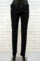DIESEL Pantalone Nero Donna Taglia Size 40 Jeans Gamba Dritta Pants Women's Slim