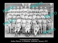 OLD HISTORIC MILITARY PHOTO OF NORTHAMPTONSHIRE REGIMENT 1st BATTALION 1935