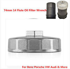 74mm 14 Flute Oil Filter Wrench Socket Remover Tool For Benz Porsche VW Audi