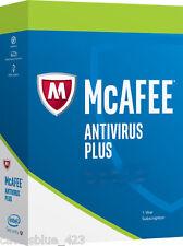 New Intel McAfee AntiVirus Plus 2017,3PCs Activation Key Card, Download