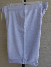 Women's Hanes Live Love Color French Terry Bermuda Cuffed Shorts S Gray