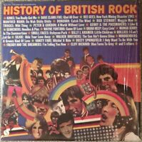 """Various Artists """"History of British Rock"""" 1974 Compilation Double LP  Shrink wrp"""