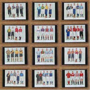 Club Colours Historical Football Kits Fridge Magnets - Various Teams