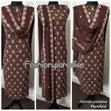 Indian pakistani embroidered women shlwar kamez/ladies Asian dresses with inner