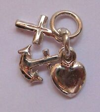 Sterling Silver Small Hope, Faith and Charity Charm