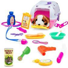 Pet Vet Play Set For Toddlers & Kids Veterinarian Kit Toy W/ A Plush Dog,18 Pcs