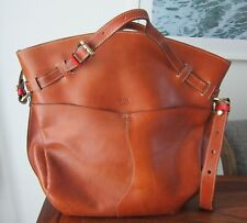 BOLDRINI SELLERIA LARGE LEATHER SATCHEL MADE IN ITALY