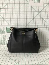 Coach F28992 Pebbled Leather Small Lexy Shoulder Bag Black Crossbody