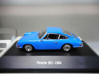 PORSCHE 901 911 BLUE 1964 PORSCHE COLLECTION NOREV ATLAS IXO 1:43