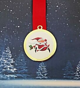Santa Running Medal with Free Ribbon & Engraving