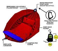 Hammock - Adventurers Double - 100% Parachute Material - Colour Deep Red