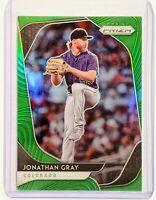 2020 Panini Prizm Jonathan Gray Lime Green SER/125 Prizm Refractor Card Rockies