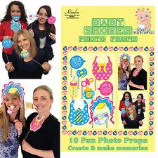Pack of 10 Fun Photo Posing Props BABY SHOWER Selfie Fun