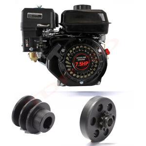7.5HP 210cc OHV Petrol Engine Motor Horizontal Shaft For Mower Go Kart ATV Quad