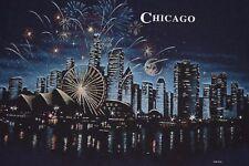 90s Chicago Illinois Wrap Around Print t shirt Medium Scenic Downtown