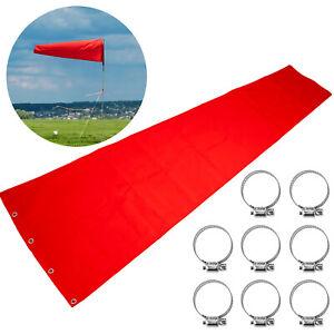 Airport Windsock Wind Direction Sock 18 x 96 Inch, Aviation Wind Sock Orange Red