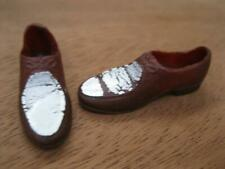 VINTAGE JAPAN 1960s KEN DOLL brown/white LOAFERS SHOES-1961 #782 CASUALS SUIT