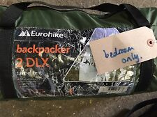 Eurohike Backpacker Deluxe Tent Green Spare replacement BEDROOM ONLY