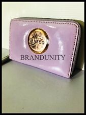 Mimco Leather MIM ZIP TECH Pouch Wallet Clutch Purse  Brand New Purple Rosegold