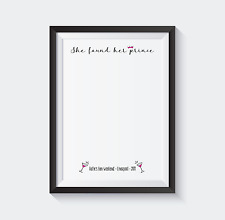 Kiss the miss goodbye - she found her prince! A4 personalised print keepsake