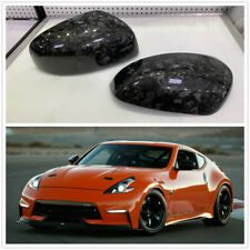 2x Carbon FIber Side View Mirror Cover Cap Overlay For Nissan 370Z Z34 2009-2019