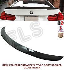BMW 3 SERIES F30 PERFORMANCE V STYLE REAR BOOT SPOILER GLOSS BLACK 2012UP OEM FI