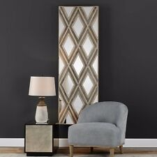 "NEW LARGE 72"" LAYERED VENEERS WALL ART MIRROR PANEL MODERN GEOMETRIC PATTERN"
