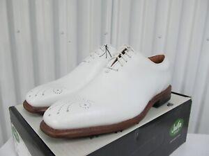 Justin Boots Golf Shoe Classic Square Toe Leather Brogue Exotics 12W FJ Footjoy
