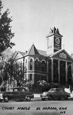 El Dorado Kansas Court House Street View Antique Postcard K55600