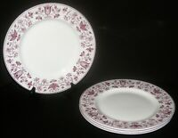 "4 Johnson Brothers Windsor Ware 10"" Dinner Plates Harwood Mulberry Ashford"