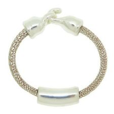 SIMON SEBBAG DESIGNS STERLING SILVER BEAD BRACELET ON SUEDED PEARL LEATHER