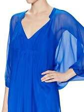 Diane von Furstenberg Fleurette Silk Kaftan Dress Cobalt Blue Diamond Size 0