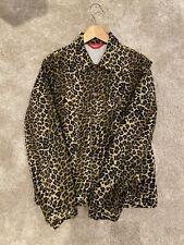 Supreme Leopard Print Denim Trucker Jacket
