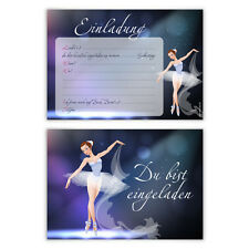 Einladungskarten Kindergeburtstag Jungen Mädchen 8 Stück   Ballerina