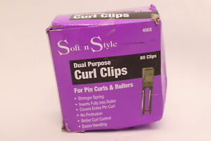 Soft N Style Dual Purpose Metal Hair Roller Clips ST-00400 80-Pack