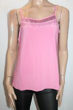 Linea Brand Pink Sequins Detail Cami Top Size XL BNWT #TK110